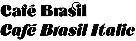 Café Brasil font