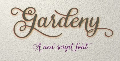 Gardeny font
