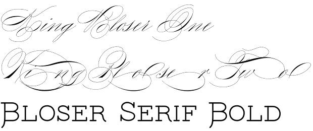 King Bloser font
