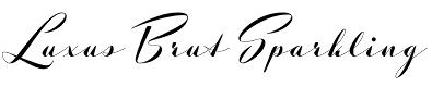 Luxus Brut Sparkling font