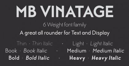 MB Vinatage font