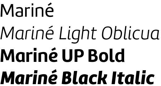 Mariné font by TipoType – a Sans family with bipolar order