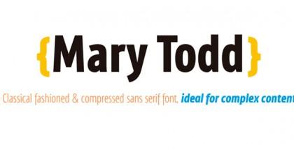 MaryTodd font