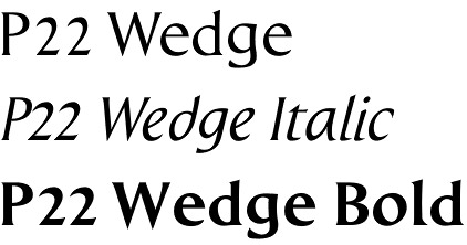 P22 Wedge font