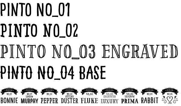 Pinto font