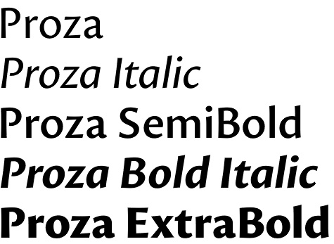 Proza font