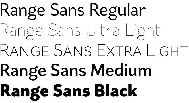Range Sans font
