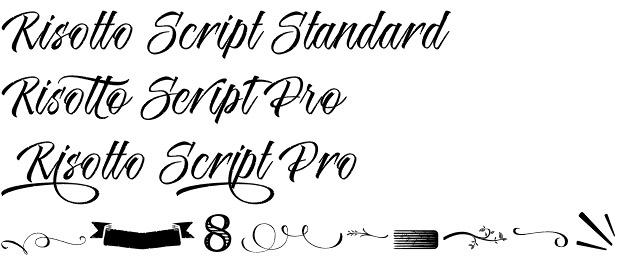 Risotto Script font
