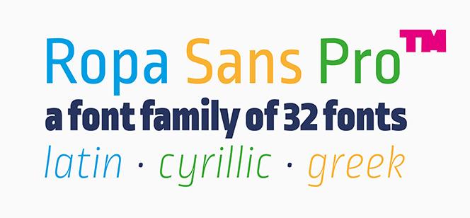 Ropa Sans Pro font