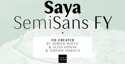 Saya SemySans FY font