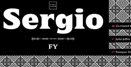 Sergio FY font
