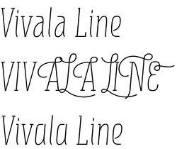 Vivala Line font
