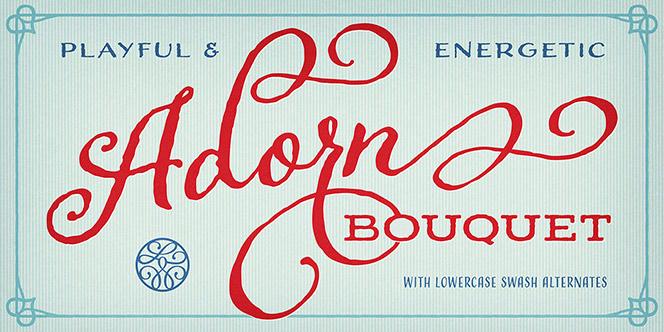 Adorn Script Fonts