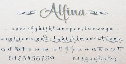 Alfina font