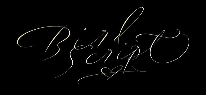 Bird Script font