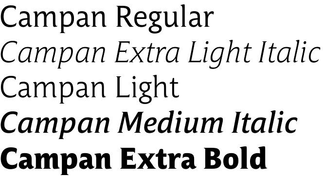 Campan font