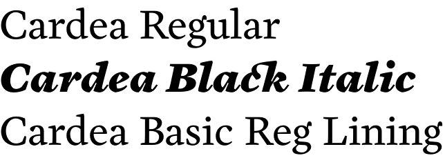 Cardea font