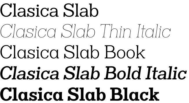 Clasica font