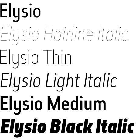 Elysio font