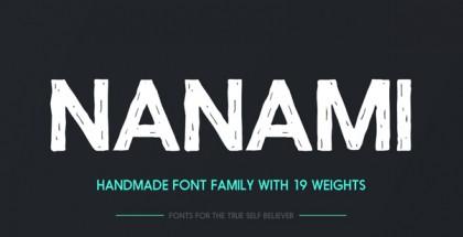 Nanami Handmade font