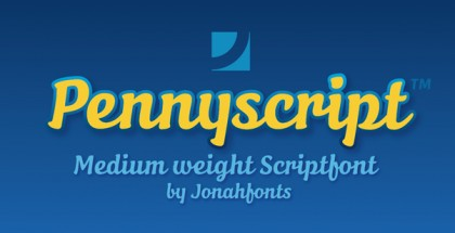 Pennyscript font