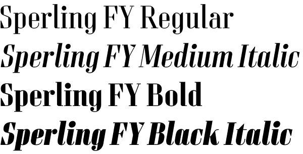 Sperling FY font