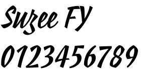 Suzee FY font