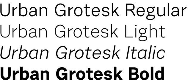 Urban Grotesk font