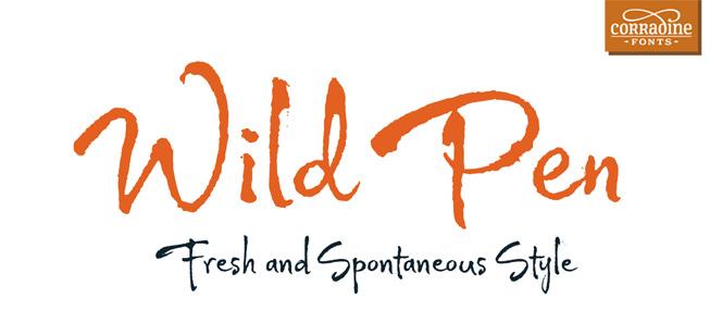 Wild Pen font