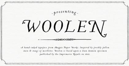 Woolen font