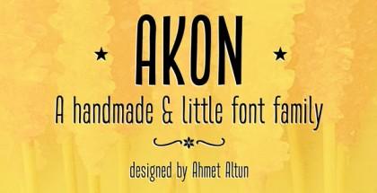 Akon font