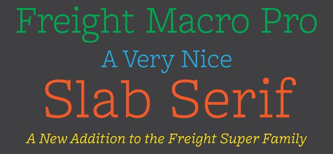 Freight Macro font