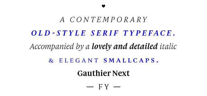 Gauthier FY Next font
