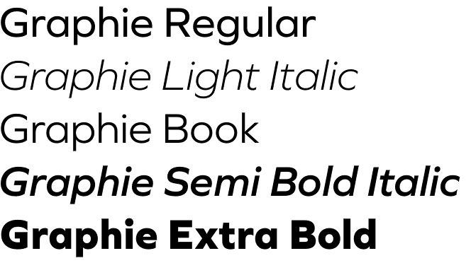 Graphie font