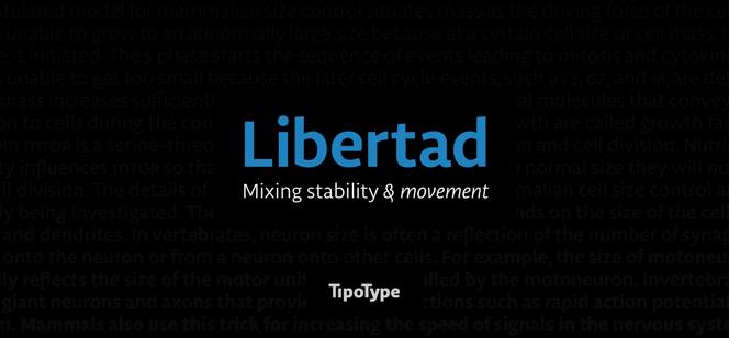 Libertad font