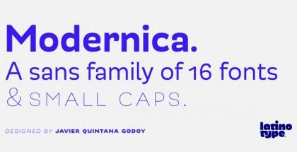Modernica font