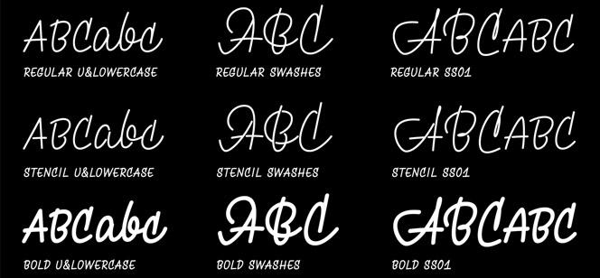 Monolina font