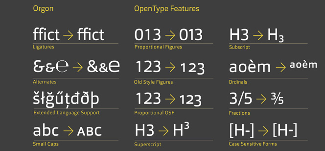 Orgon font