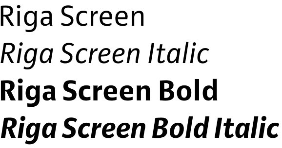 Riga Screen font
