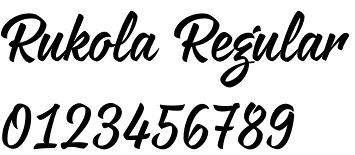 Rukola font