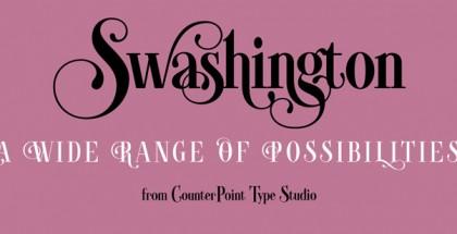 Swashington font