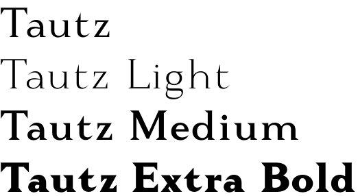 Tautz font