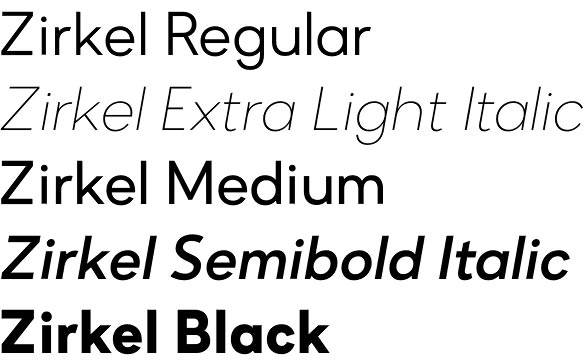 Zirkel font