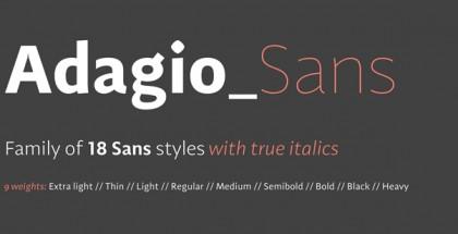 Adagio Sans font