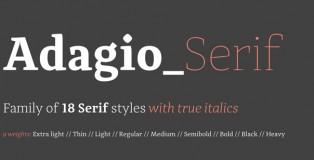 Adagio Serif font