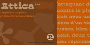 Attica RSZ font