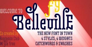 Belleville FY font