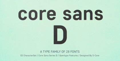 Core Sans D font