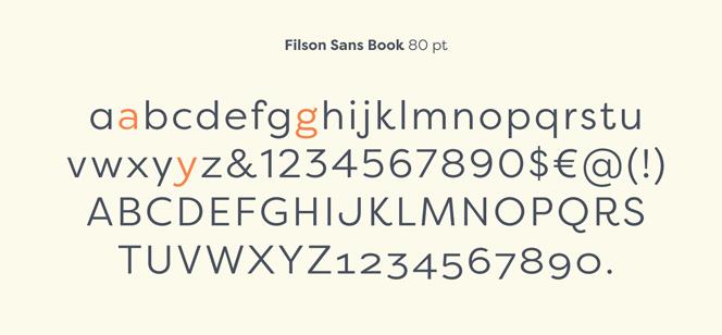 Filson Pro font