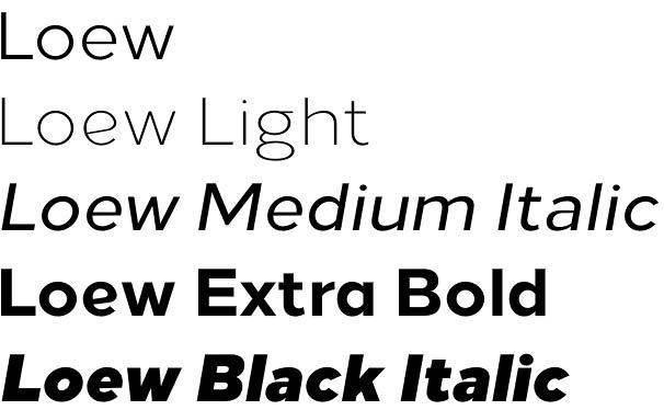 Loew font